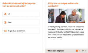 Voorbeeld suggestieve interactieve e-mail